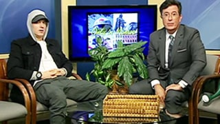 Stephen Colbert Interviews Eminem on Public Access Television, and It's Comedy Gold: Watch Now!