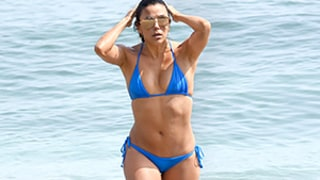 Eva Longoria Stuns in Itty Bitty Blue Bikini at 40 — See Her Hot Beach Bod