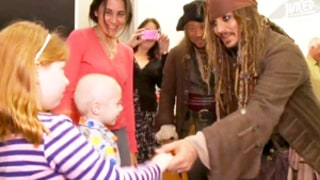Johnny Depp Visits Children's Hospital in Full Jack Sparrow Costume