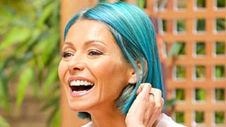 Kelly Ripa Ditches Her Pink Hair in Favor of a Vibrant Ocean-Blue Shade: See the Photos!