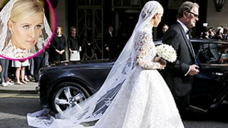 Nicky Hilton's Reported $77,000 Wedding Dress Veil Gets Stuck on Bentley Car Wheel — See the Chic Snafu