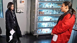 The Liars Confront Mona Wearing a Red Coat (Gasp!): Pretty Little Liars Sneak-Peek Photos