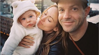 Olivia Wilde, Jason Sudeikis' Son Otis Doesn't Like His Bear Suit -- See the Cute Family Pic