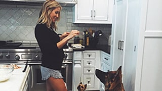 Pregnant, Barefoot Kristin Cavallari Gives Dogs Treats in Adorable New Baby Bump Photo