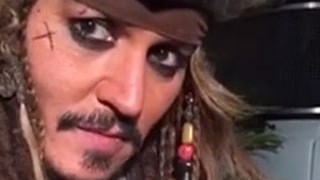Johnny Depp Bottle Feeds Baby Bat in Full Jack Sparrow Costume: Watch!