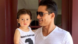 Mario Lopez's Adorable Son Dominic Rocks A.C. Slater Shirt With Dad: Pic