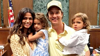 Matthew McConaughey's Wife Camila Alves Becomes a U.S. Citizen! Cute Family Photo