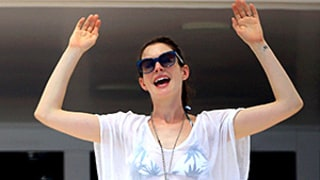 Anne Hathaway Rocks Her Trim Body in Two String Bikinis While Hanging on Valentino's Yacht (Jealous Much?)
