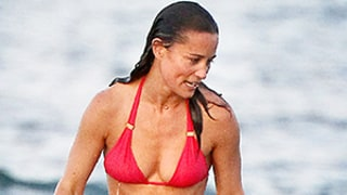 Pippa Middleton Looks Every Inch Toned in Red Bikini - See Her Abs!