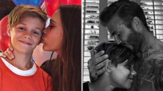 Victoria and David Beckham Plant Kisses on Their Son Romeo on His 13th Birthday: Cute Family Photos