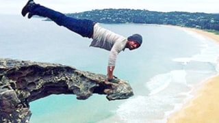 Kellan Lutz Defies Gravity, Shows Off Insane Cliffside Workout: Pictures