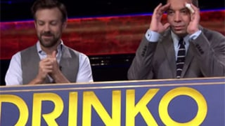 Jason Sudeikis Plays Drinko With Jimmy Fallon, Chugs Tequila, Bubble Tea