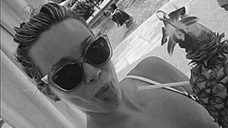 Hilary Duff Showcases Bold Bikini Cleavage in a Poolside Selfie: See the Photo!