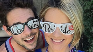 Ali Fedotowsky, Kevin Manno Celebrate Labor Day With Bride and Groom Sunglasses: Photo