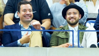 US Open Celebrities: Jimmy Fallon, Justin Timberlake, Donald Trump, Kim Kardashian, and Anna Wintour Cheer on Tennis Champs
