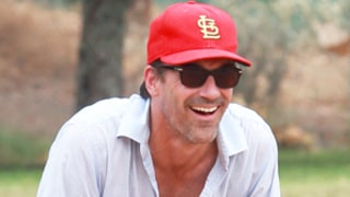 Jon Hamm Looks Happy, Plays Baseball With Pals Post-Jennifer Westfeldt Split: Picture