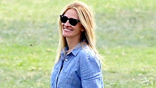 Julia Roberts and Husband Danny Moder Wear Matching Chambray Shirts to Sons' Soccer Game