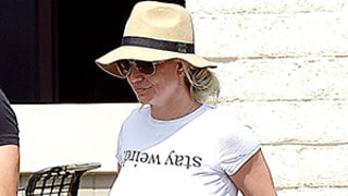Britney Spears Makes a Statement in a Crop Top, Short Shorts, and Skyscraper Heels: Street Style Photo