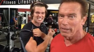 Arnold Schwarzenegger Wakes Son Patrick for an Early Morning Birthday Workout