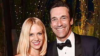 Jon Hamm Celebrates Emmys 2015 Win With January Jones: