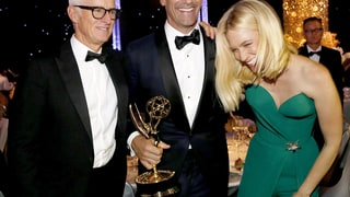 John Slattery, Jon Hamm, and January Jones