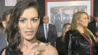 Anne Hathaway Loses It in the Presence of Mariah Carey at The Intern Premiere: Watch