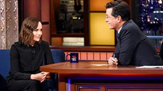 Ellen Page Gets Emotional Talking About Coming Out With Stephen Colbert: