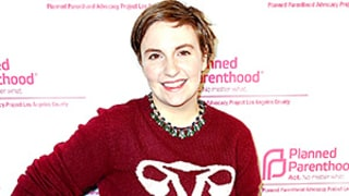 Lena Dunham Wears a Fallopian Tube Sweater to a Planned Parenthood Conference and It's Everything