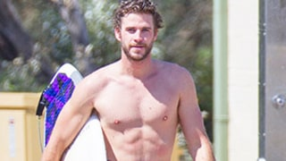 Liam Hemsworth Flexes Muscles, Showers in Amazingly Hot Surf Photos