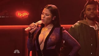The Weeknd Brings Out Surprise Guest Nicki Minaj for SNL Performance of