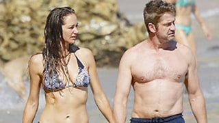 Gerard Butler, Bikini-Clad Girlfriend Morgan Brown Get Handsy at Beach: See the Sexy Photos!