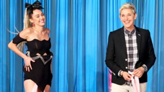 Ellen DeGeneres, Miley Cyrus Play Questionable