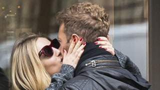 Chris Martin and Actress Annabelle Wallis Kiss During Romantic Paris Stroll: Photos