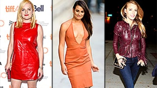 Jump on the Colorful Leather Bandwagon Like Blake Lively, Demi Lovato, Lea Michele, More Celebs