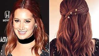 Ashley Tisdale's Star-Spangled Half-Updo Is Out of This World: Hairstylist Kristin Ess Shares the DIY
