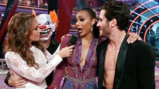 Leah Remini Freaks Out Over Clown, Falls Face First During DWTS Scare: Watch