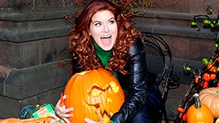 Celeb Sightings: Debra Messing Gets Into the Halloween Spirit!