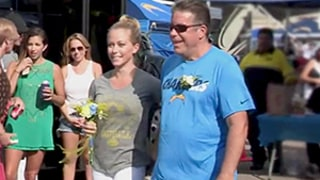 Kendra Wilkinson Fights Back Tears at Dad's Tailgating Parking Lot Wedding: Watch