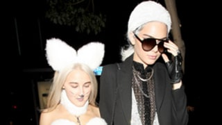 Kendall Jenner and Pal Dress Up as Karl Lagerfeld and Cat Choupette -- But Did They Outdo Josh Duhamel and Fergie?