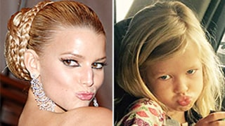Jessica Simpson's Daughter Maxwell Mimics Her Mom's Signature