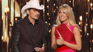 Brad Paisley, Carrie Underwood Poke Fun at Blake Shelton, Miranda Lambert's Divorce in CMAs 2015 Opening Monologue