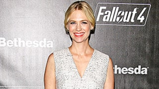 January Jones Wears Sheer White Pants Under Sheath Dress: Love It or Hate It?