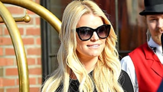Jessica Simpson Flaunts Itty-Bitty Waist in Crop Top: Street Style Pics