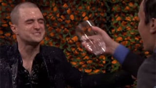 Daniel Radcliffe Gets Soaked Playing Water War with Jimmy Fallon: Video