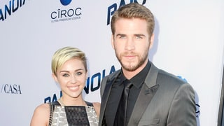 Miley Cyrus, Liam Hemsworth Quietly Attend L.A. Premiere of 'The Huntsman: Winter's War,' Pose With Fans