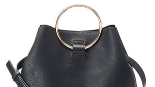 LC Lauren Conrad Ring Large Bucket Bag in Black
