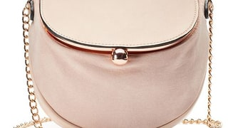 LC Lauren Conrad Lili Frame Flap Crossbody Bag in Blush