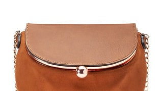 LC Lauren Conrad Lili Frame Flap Crossbody Bag in Saddle