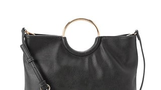 LC Lauren Conrad Ring Convertible Crossbody Bag in Black