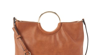 LC Lauren Conrad Ring Convertible Crossbody Bag in Saddle